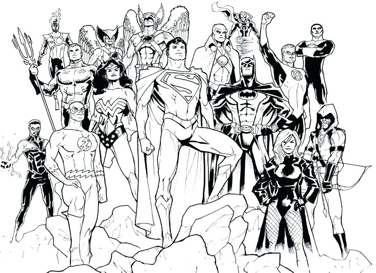 Dc Comics Coloring Pages at GetDrawings | Free download