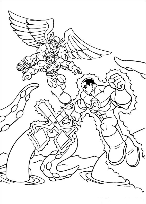 567x794 Coloring Page Tv Series Coloring Page Superfriends