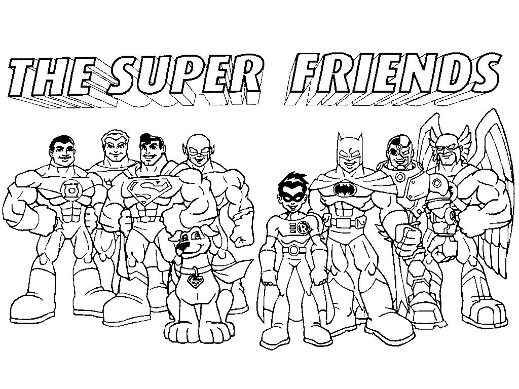 1024x768 Dc Super Friends Coloring Pages