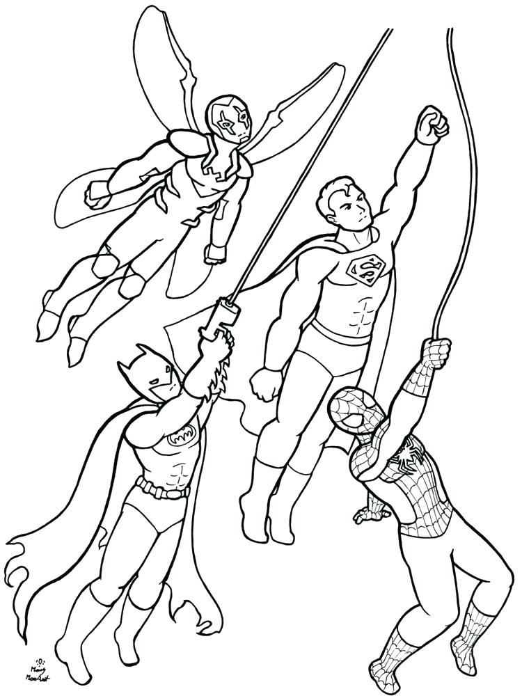 750x1000 Dc Superhero Coloring Pages Stunning Super Hero Color Pages Fee Dc