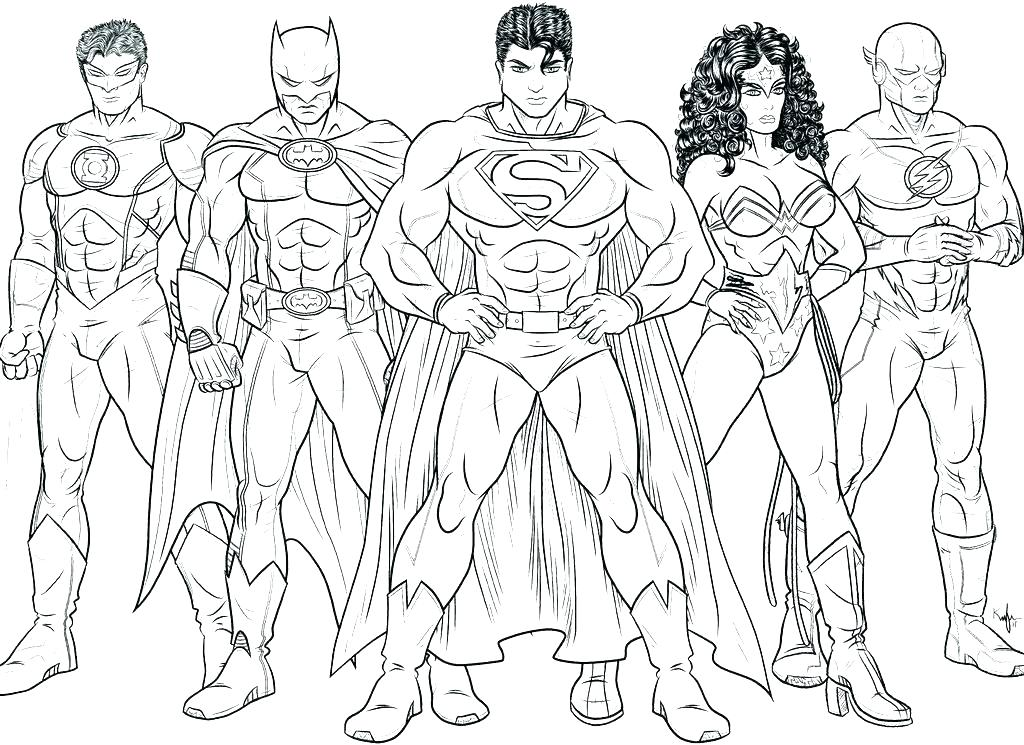 1024x745 Awesome Super Heros Coloring Pages Dc Superhero Coloring Pages Dc