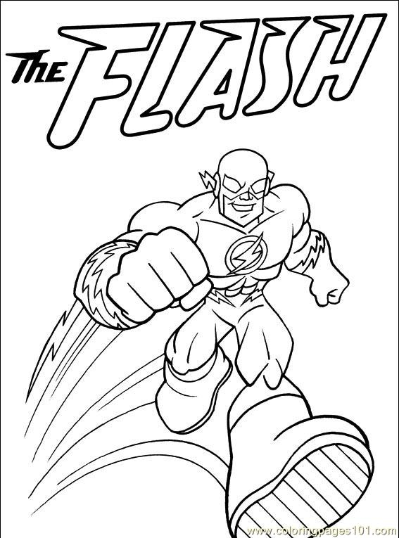 567x765 Dc Coloring Pages The Flash Dc Super Heroes Coloring Pages