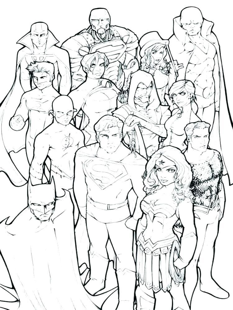 750x1000 Dc Comic Coloring Pages Dc Superhero Coloring Pages Dc Superhero