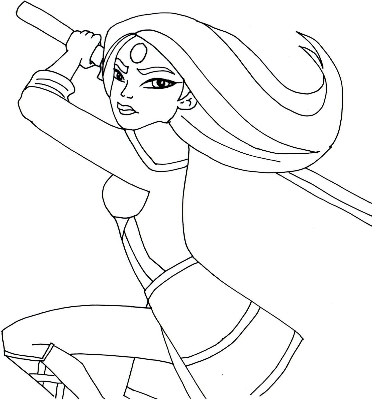 1484x1600 Free Printable Super Hero High Coloring Page For Katana One Of My