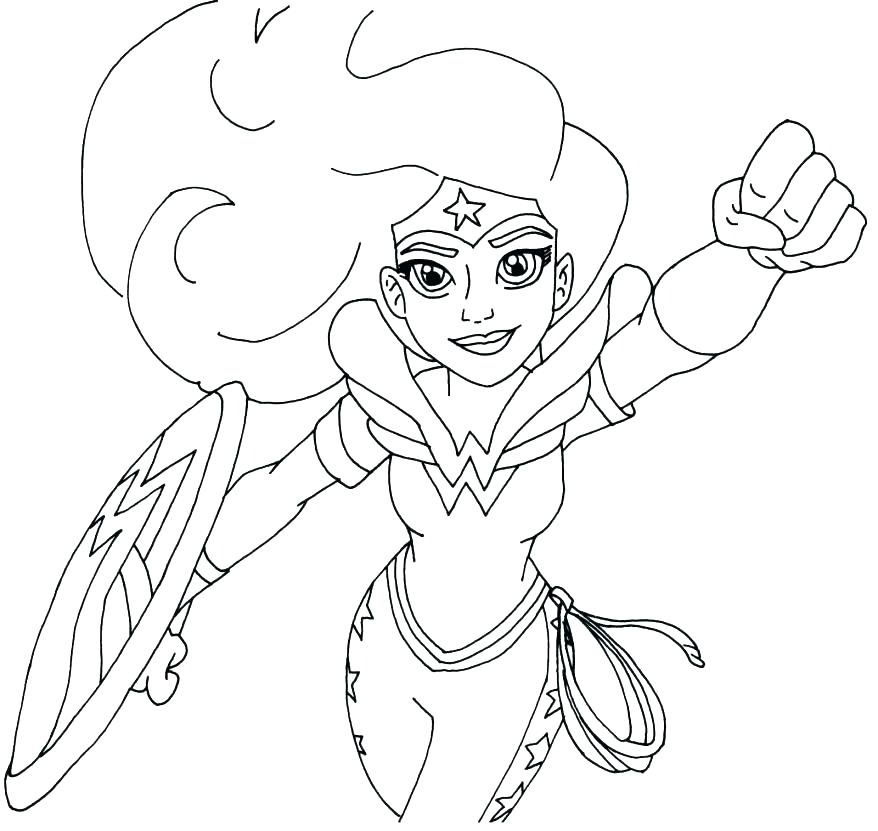878x831 Super Hero Coloring Page Dc Superhero Girls Coloring Pages