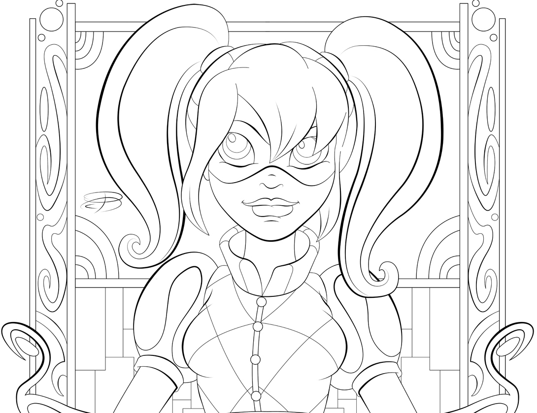1090x839 Girl Superhero Coloring Pages Page Dc Super Hero Girls Arilitv