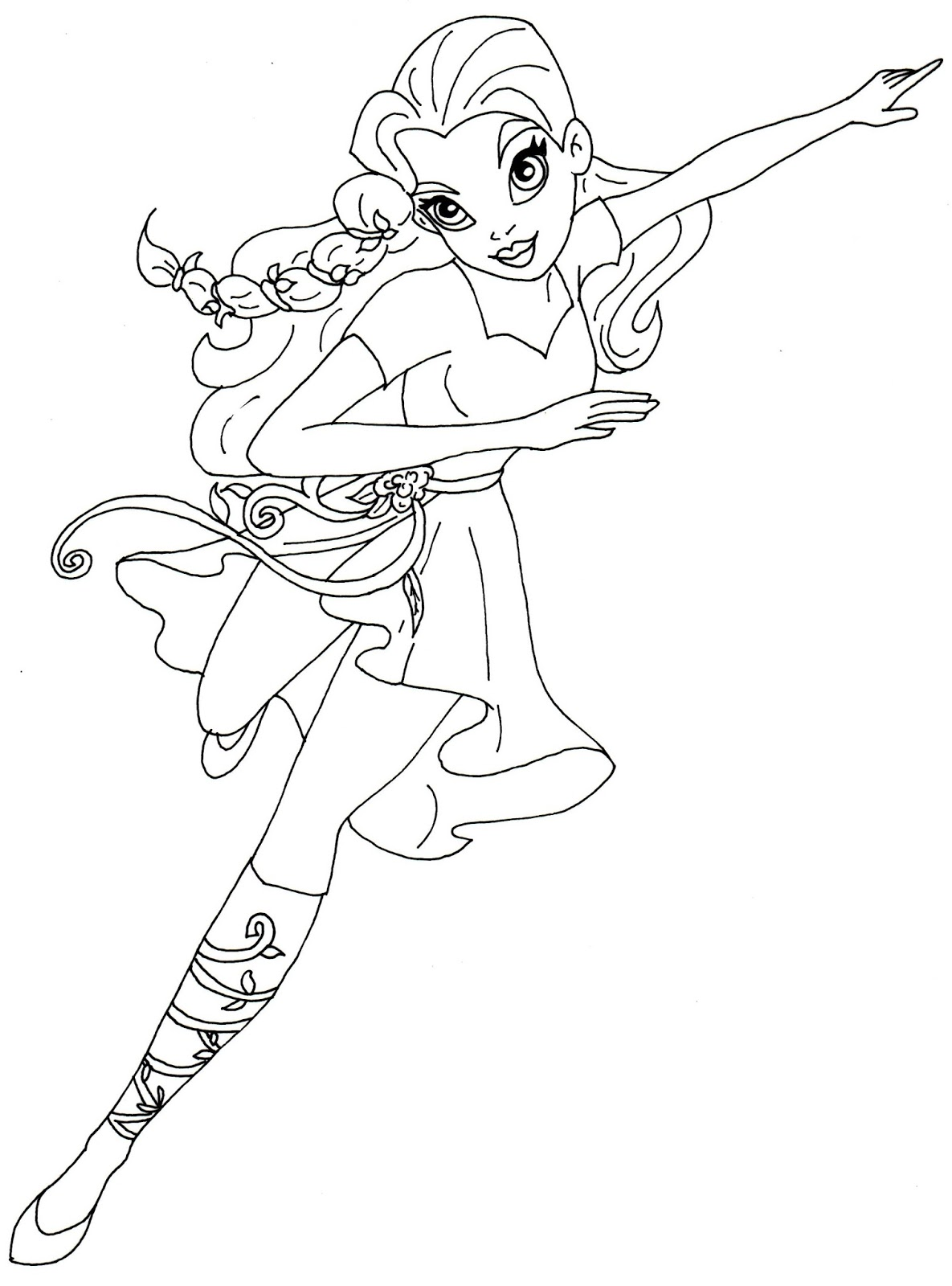 1185x1600 Free Printable Super Hero High Coloring Pages Poison Ivy Super