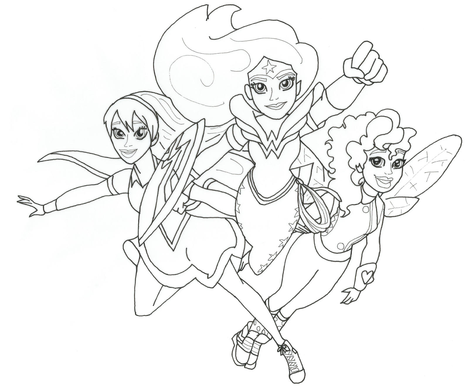 1600x1322 Free Printable Coloring Page For Dc Super Hero Girls Supergirl