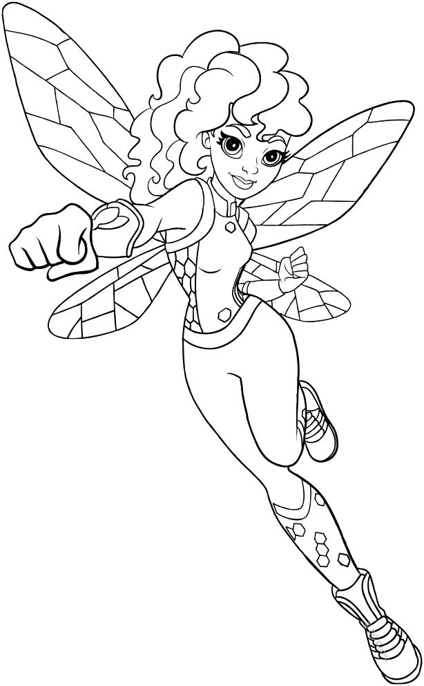 614x992 Dc Superhero Coloring Pages Bumblebee Dc Superhero Girls Coloring