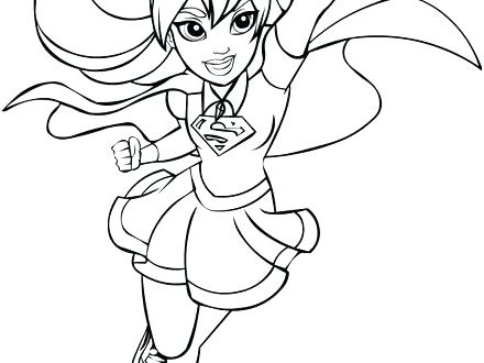 Dc Superhero Girls Coloring Pages At Getdrawings Com Free For