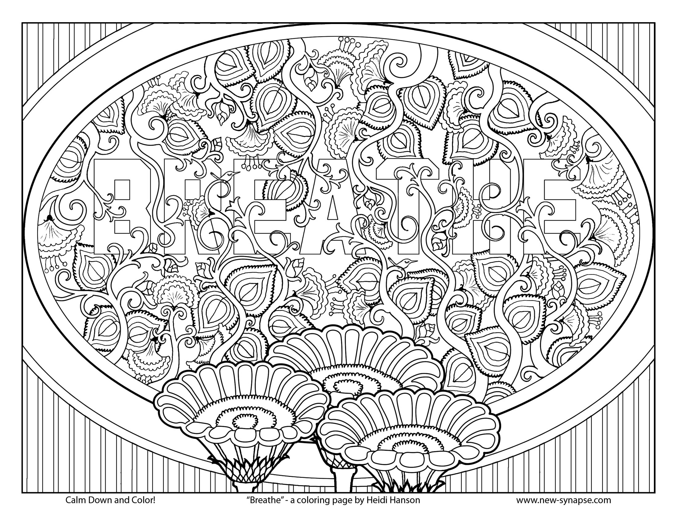 2200x1700 Colour Thera Art Best Color Therapy Book Coloring Page