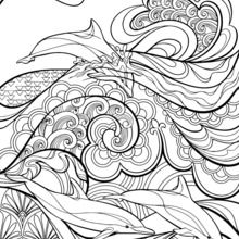 220x220 Paisley, Hearts And Flowers Anti Stress Coloring Design Coloring