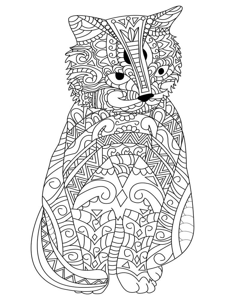 750x1000 Coloring Pages To Destress On Election Night Cat Colors