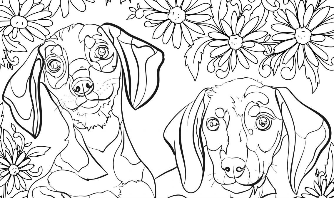 1136x674 Destressing Coloring Pages Destress With Free Dog Coloring Pages
