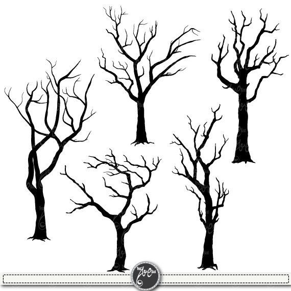 570x570 Dead Tree Outline Free Coloring Pages