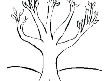 440x330 Good Bare Tree Coloring Page And Drawn Dead Tree Autumn