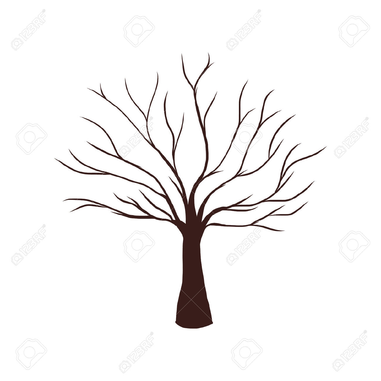 1300x1300 Tree Without Leaves Clipart Lovely Coloring Page
