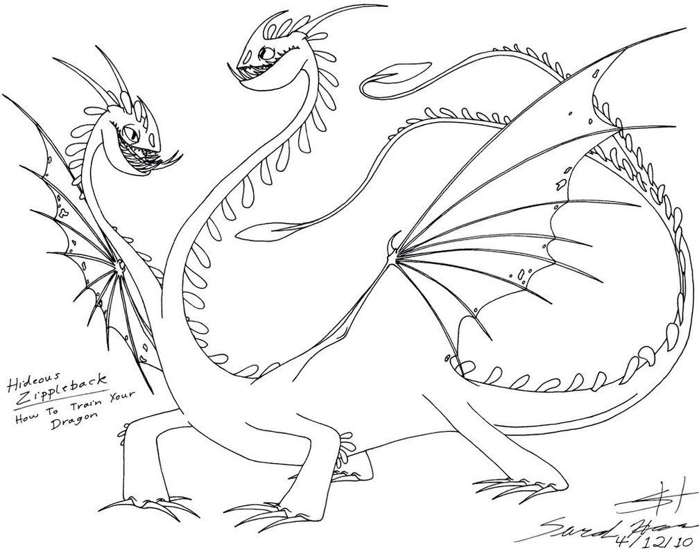 Deadly Nadder Coloring Page at GetDrawings | Free download