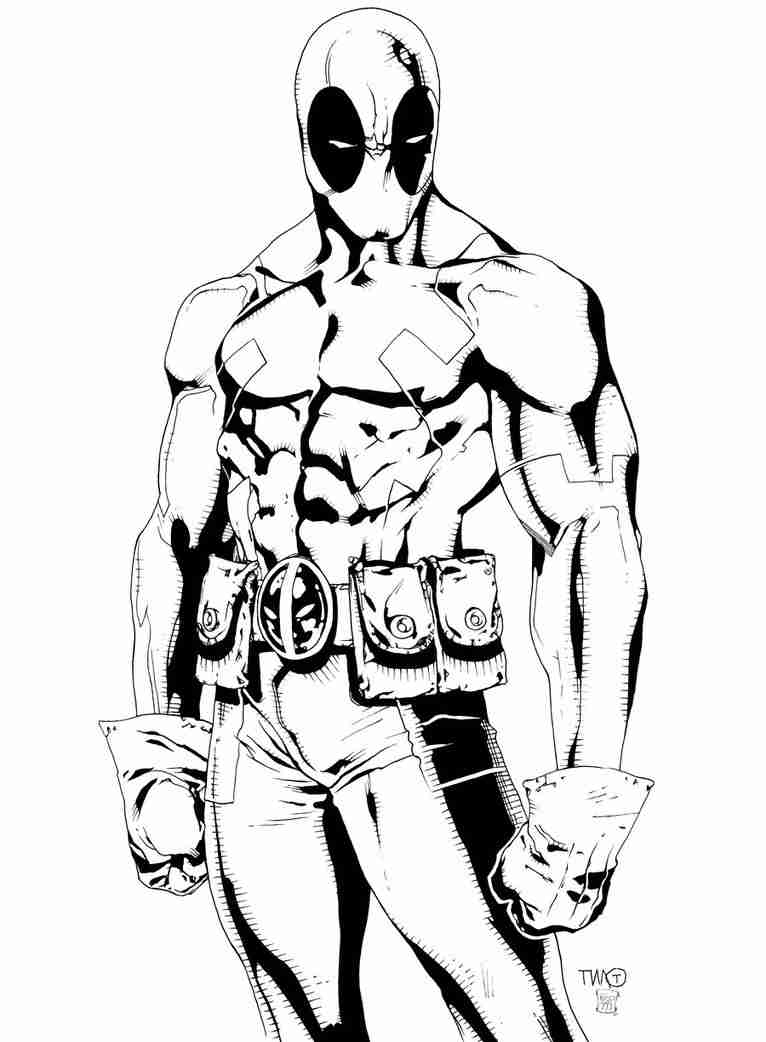 766x1042 Coloring Pages Brilliant Deadpool Olegratiy