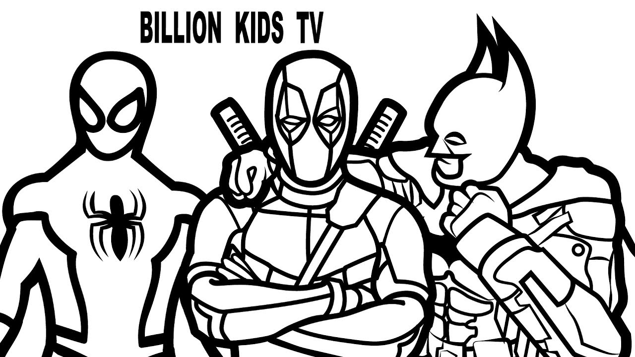 Deadpool Coloring Pages For Kids at GetDrawings.com | Free ...