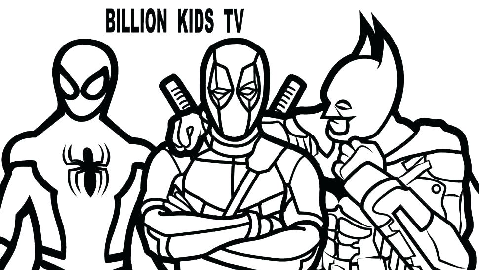 970x546 Deadpool Coloring Pages Inspirational Coloring Pages For Kids