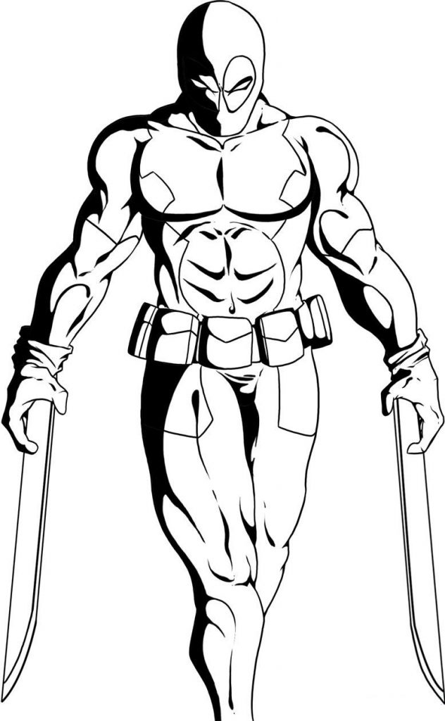 632x1024 Deadpool Coloring Pages Lovely Free Printable Deadpool Coloring
