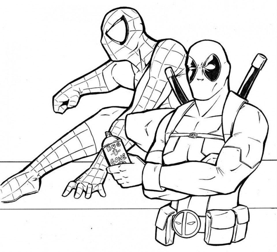 960x874 Deadpool Coloring Pages Lovely Printable Deadpool Coloring Pages