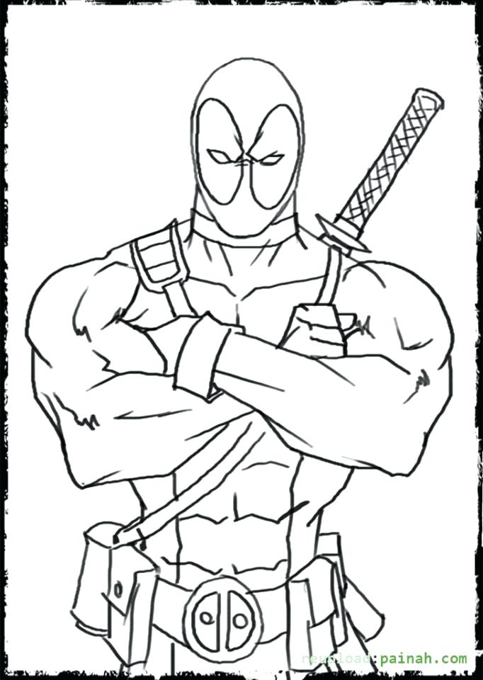 682x960 Deadpool Coloring Pages Printable Coloring Pages Get This