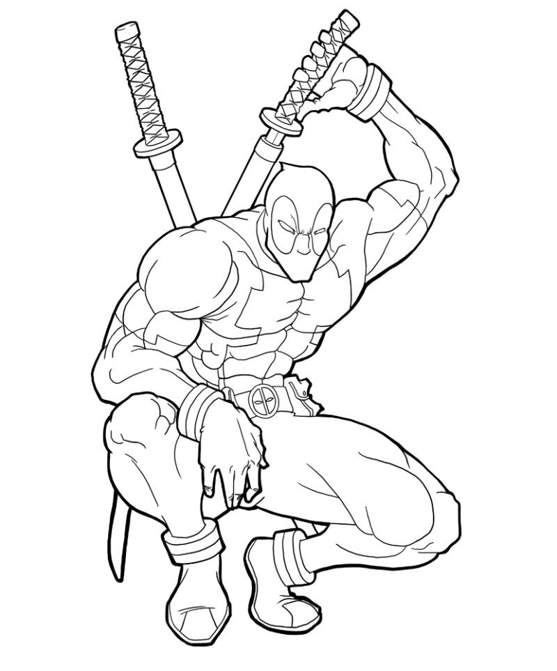 800x963 Deadpool Coloring Pages Printable Coloring Pages Kids Coloring