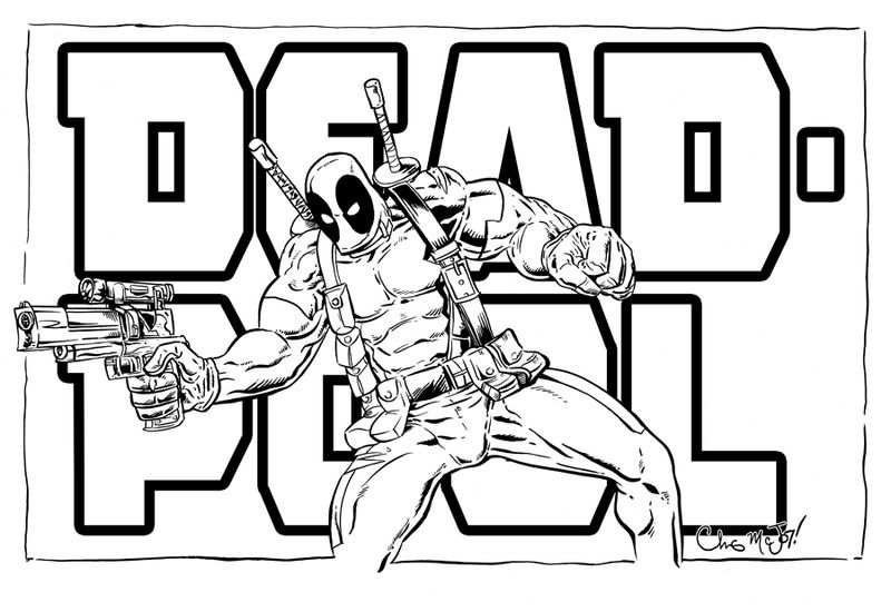 800x550 Deadpool Printable Coloring Pages