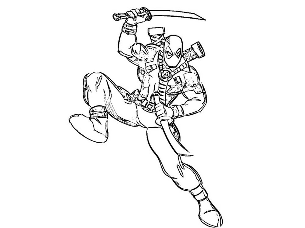 1000x750 Deadpool Coloring Pages