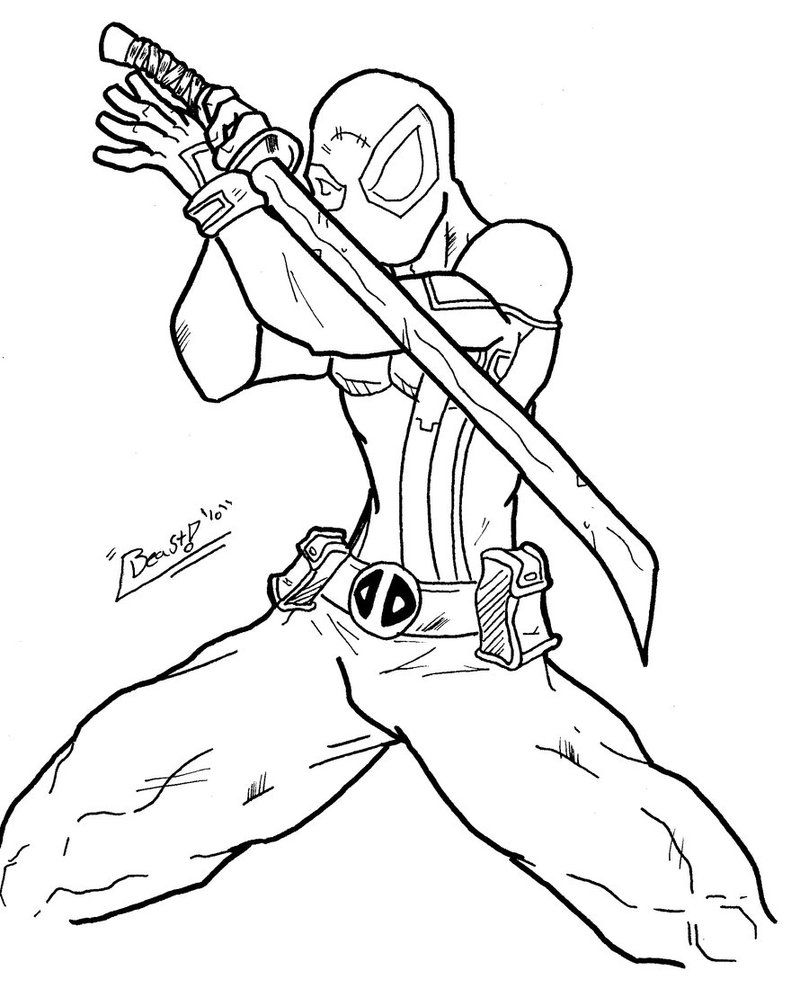 809x988 Free Printable Deadpool Coloring Pages For Kids Deadpool, Kids