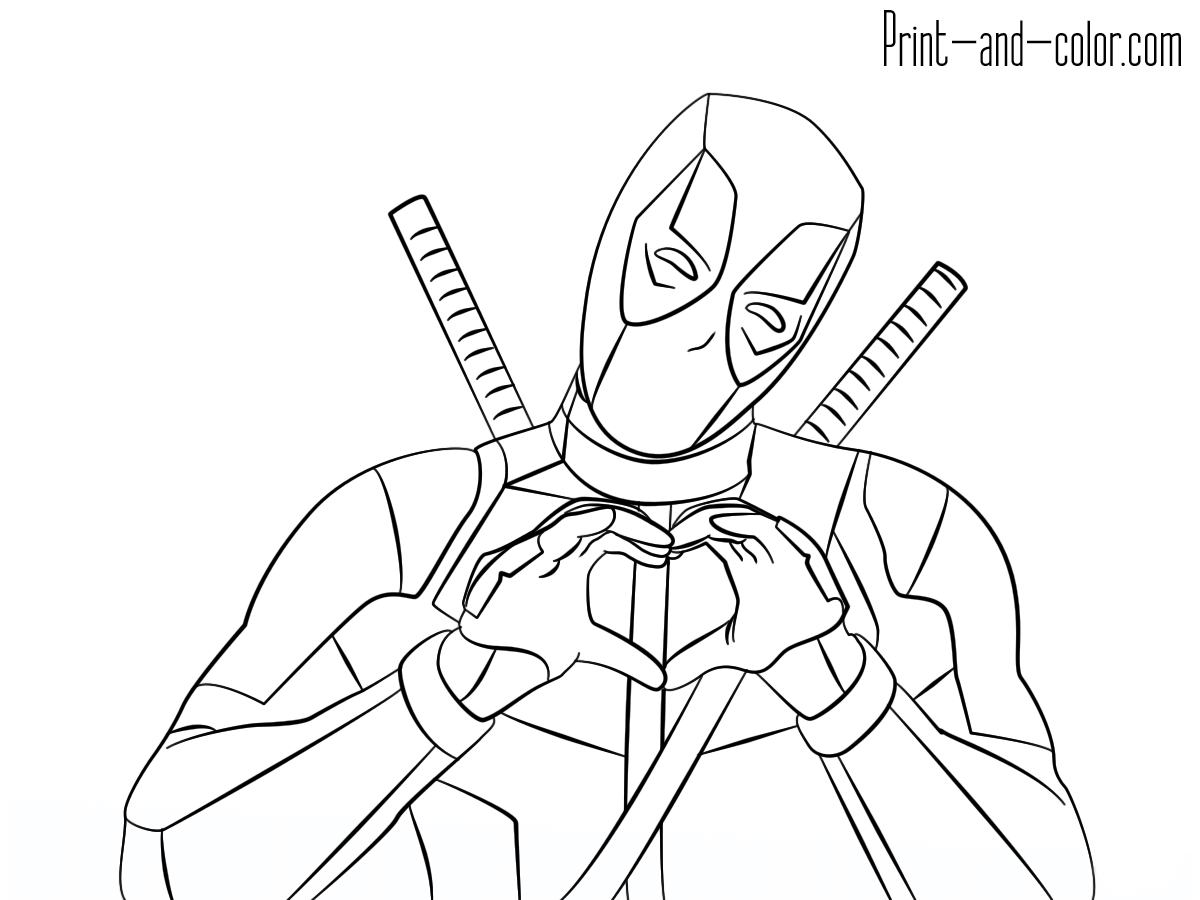 1200x900 New Deadpool Coloring Pages To Print And S