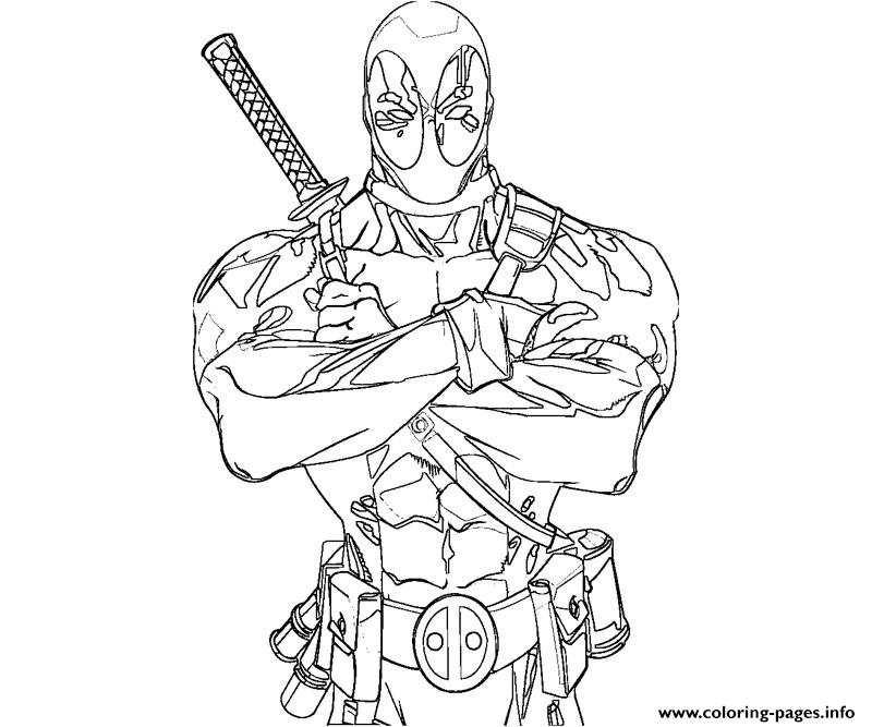 800x667 Printable Deadpool Coloring Pages