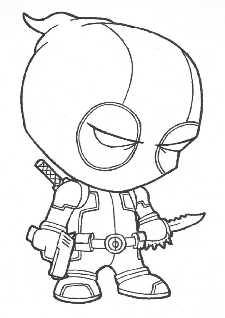 765x1080 Printable Deadpool Coloring Pages