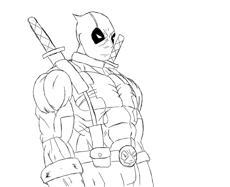 900x732 Printable Deathstroke Vs Deadpool Coloring Pages