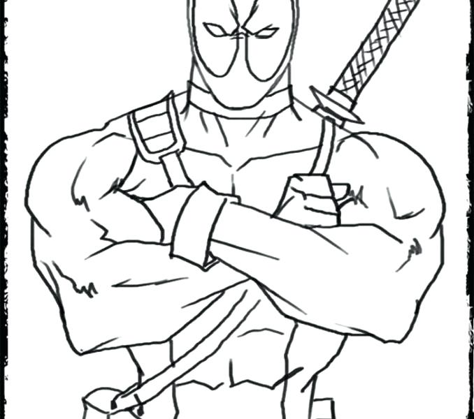 678x600 Dead Pool Coloring Pages Dead Pool Coloring Pages Deadpool Logo