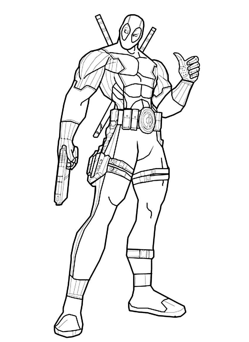 850x1169 Deadpool Coloring Pages