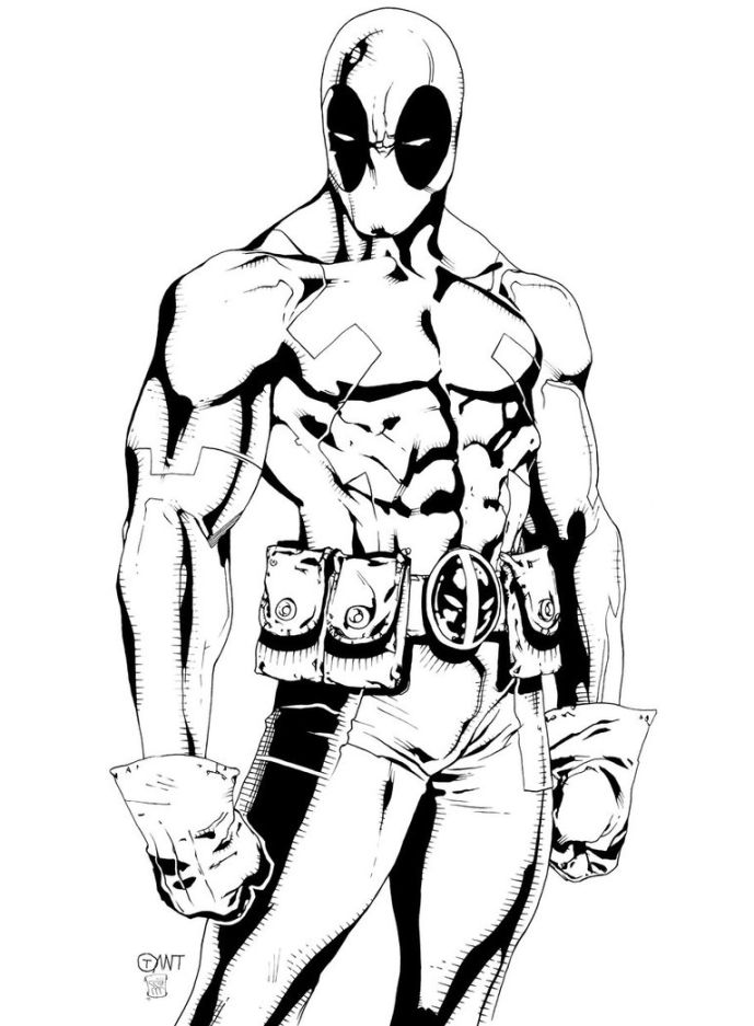 Deadpool Printable Coloring Pages at GetDrawings   Free ...