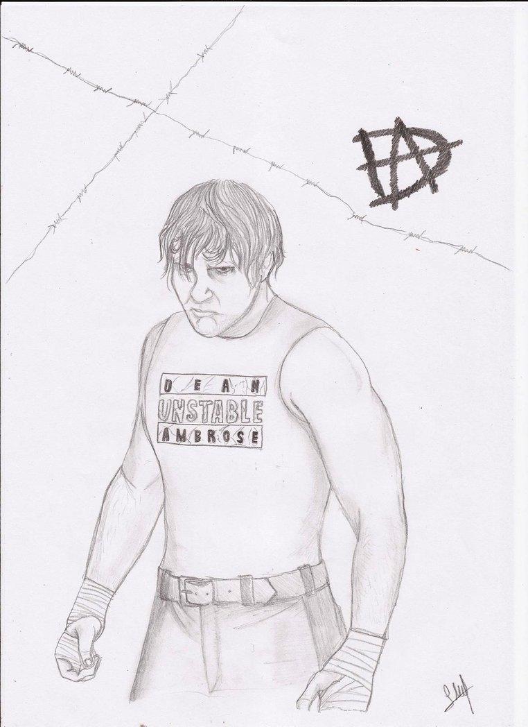 762x1048 Wwe Dean Ambrose Drawing