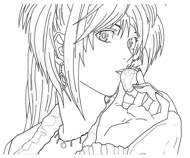 800x667 Death Note Coloring Pages Beautiful Print Fancy For Your Picture