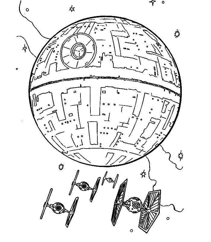 700x800 Death Star Wars Free Coloring Page Adults, Movies, Star Wars