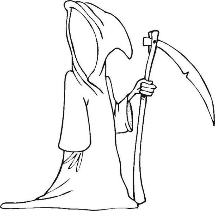 850x836 Halloween Death Coloring Pages Coloring Pages