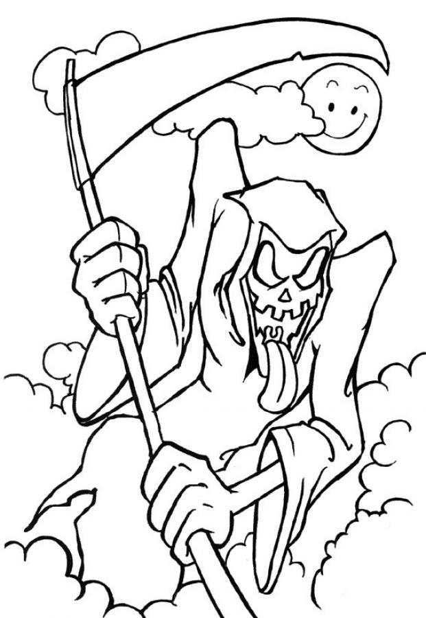 621x900 Halloween Death Scary Coloring Pages Coloring Pages