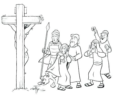 450x400 Jesus On The Cross Coloring Page Coloring Pages Of On The Cross