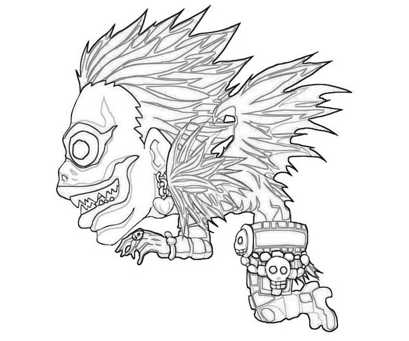 800x667 Lovely Death Note Coloring Pages For Your Line Drawings