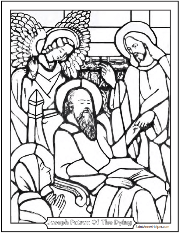 590x762 Saint Joseph Patron Of A Happy Death Coloring Page