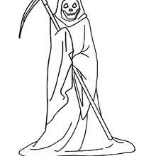 220x220 Skeletal Figure Carrying A Scythe Coloring Pages
