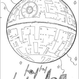 268x268 Star Wars Coloring Pages Death Deathstar Starwars Page