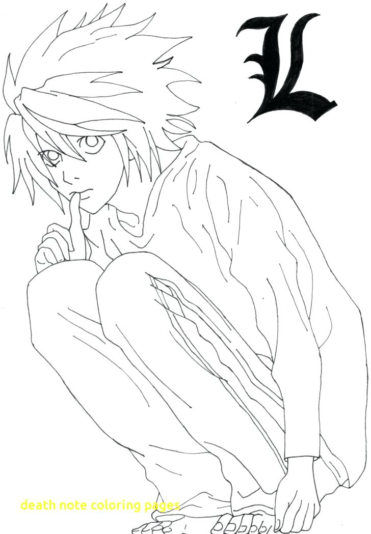 728x1049 Death Note Coloring Pages